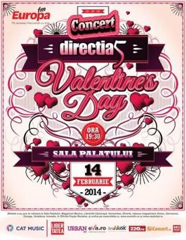 Concert Direcţia 5 – Valentine's Day 2014 la Sala Palatului