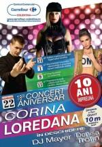 Concert Corina şi Loredana la Carrefour Colentina din Bucureşti