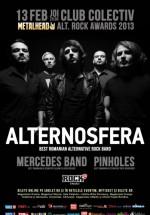 Concert Alternosfera, Mercedes Band şi Pinholes în Club Colectiv din Bucureşti
