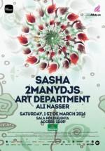 Sasha, 2MANYDJS, Art Department la Sala Polivalentă din Bucureşti
