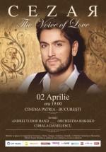 """Concert Cezar – """"The Voice of Love"""" la Cinema Patria din Bucureşti – ANULAT"""