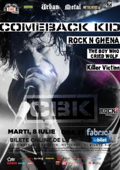 Concert Comeback Kid în Club Fabrica din Bucureşti