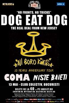 Concert Dog Eat Dog în Colectiv din Bucureşti (CONCURS)