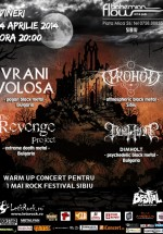 Warm-up concert pentru 1 Mai Rock Festival 2014 în Bohemian Flow Art & Pub din Sibiu
