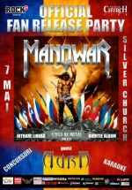 "Manowar Official Fan Release Party – ""Kings of Metal MMXIV"" în The Silver Church din Bucureşti"