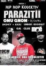 Concert Paraziţii la Hip Hop Kolektiv în Colectiv din Bucureşti (CONCURS)