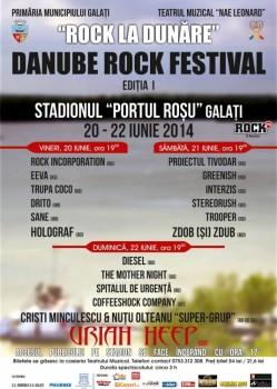 """Festivalul """"Rock la Dunăre"""" – Danube Rock Fest 2014 la Galaţi"""