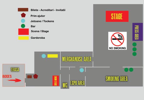 Harta Maximum Rock Festival 2014
