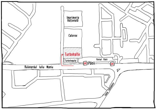 Harta Turbohalle Bucuresti