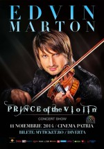 Concert Edvin Marton – Prince of the Violin la Cinema Patria din Bucureşti (CONCURS)