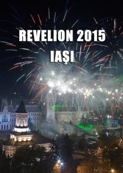 Revelion 2015 pe esplanada Palatului Culturii din Iaşi