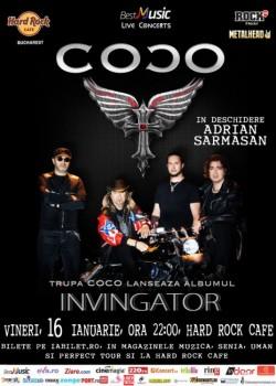 """Concert trupa COCO, lansare album """"Învingător"""", la Hard Rock Cafe din Bucureşti"""