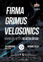 Concert Firma, Grimus şi Velosonics în Colectiv din Bucureşti