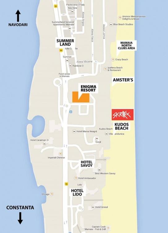 Harta Skrillex la Enigma Beach din Mamaia Nord