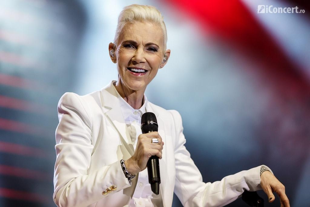Marie Fredriksson a susţinut concertul de pe scaun - Foto: Daniel Robert Dinu / iConcert.ro