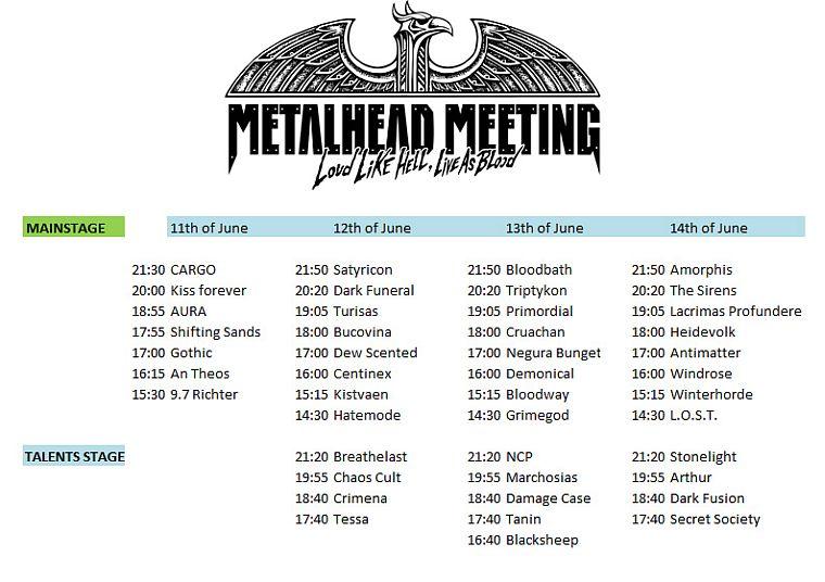 Program METALHEAD Meeting 2015