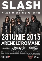 Concert Slash feat. Myles Kennedy & The Conspirators la Arenele Romane din Bucureşti