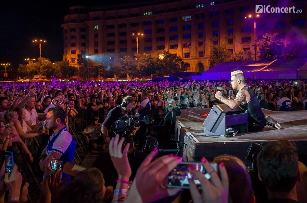 Robbie Williams în concert la Bucureşti - Foto: Daniel Robert Dinu / iConcert.ro
