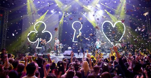 Trupa VUNK, primul concert multimedia din România, la Sala Polivalentă din Bucureşti
