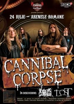 Concert Cannibal Corpse la Arenele Romane din Bucureşti