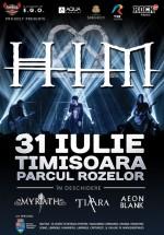 Concert HIM în Parcul Rozelor din Timişoara