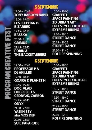 Program Creative Fest 2015