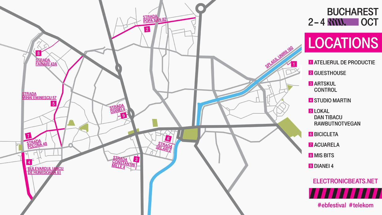 Harta locaţiilor Electronic Beats Festival