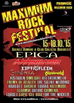 Maximum Rock Festival 2015 la Bucureşti