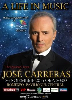 Concert José Carreras la Romexpo din Bucureşti