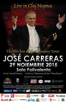 Concert José Carreras la Sala Polivalentă din Cluj-Napoca