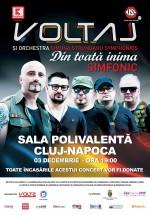 """Concert Voltaj – """"Din toată inima – Simfonic"""", la Sala Polivalentă din Cluj-Napoca"""