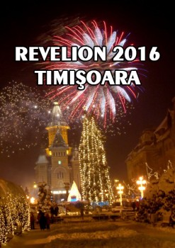 Revelion 2016 în Piaţa Victoriei din Timişoara