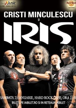 Concert Cristi Minculescu şi IRIS – 8 ani de Hard Rock Cafe Bucureşti