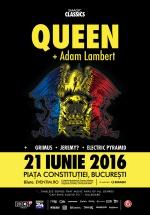 Concert Queen + Adam Lambert în Piaţa Constituţiei din Bucureşti