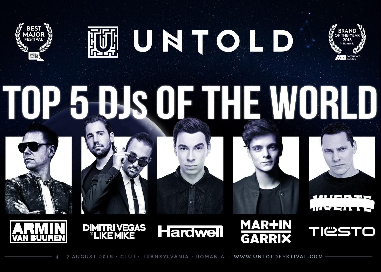 Top 5 DJs in the world la UNTOLD Festival 2016