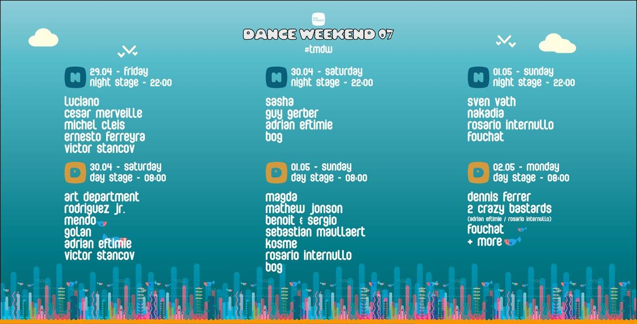 Timetable The Mission Dance Weekend 07