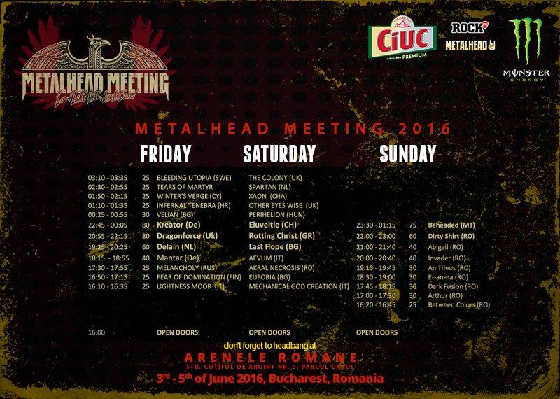 Program METALHEAD Meeting 2016