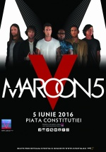 Concert Maroon 5 în Piaţa Constituţiei din Bucureşti