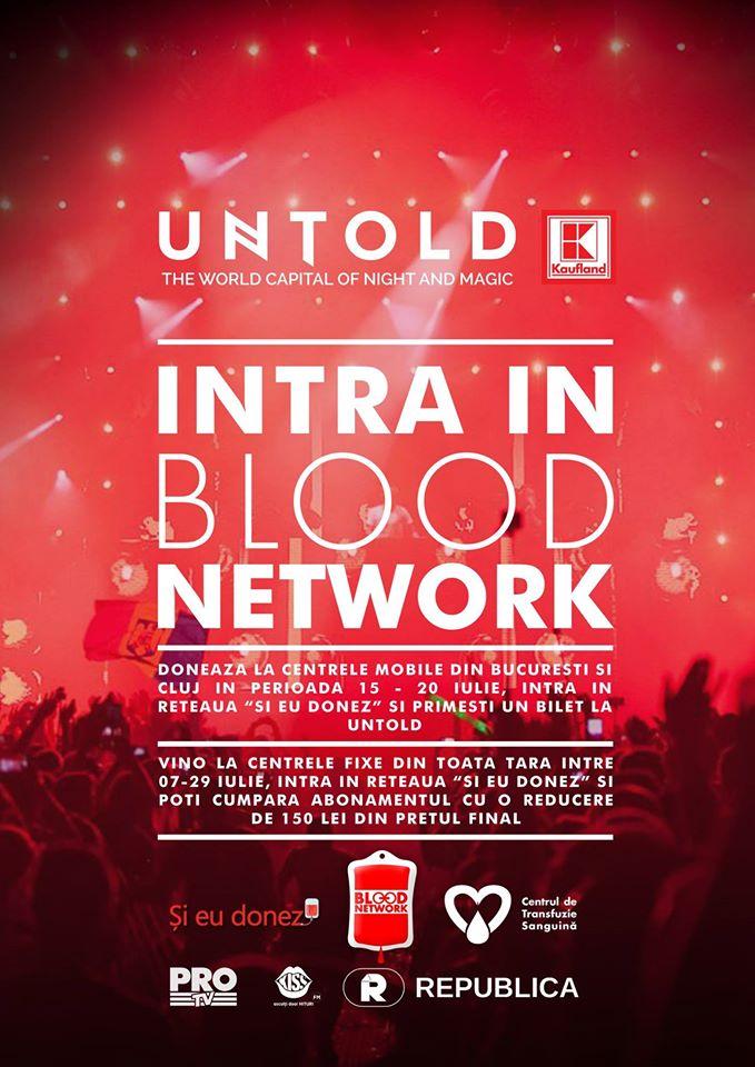 Donezi sânge şi primeşti gratuitate sau reducere la UNTOLD 2016