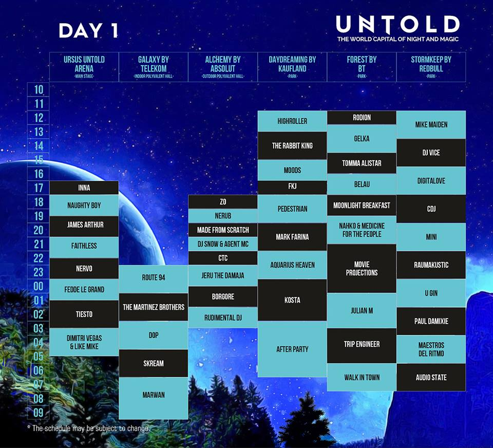 Program UNTOLD 2016 - ziua 1