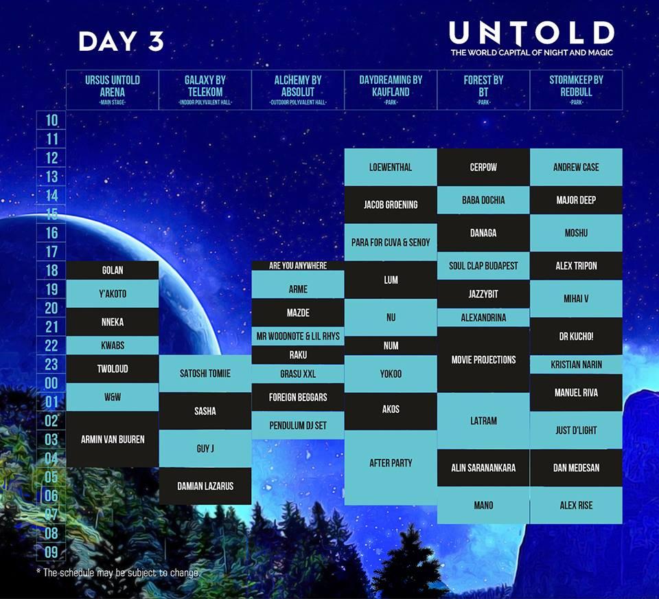 Program UNTOLD 2016 - ziua 3