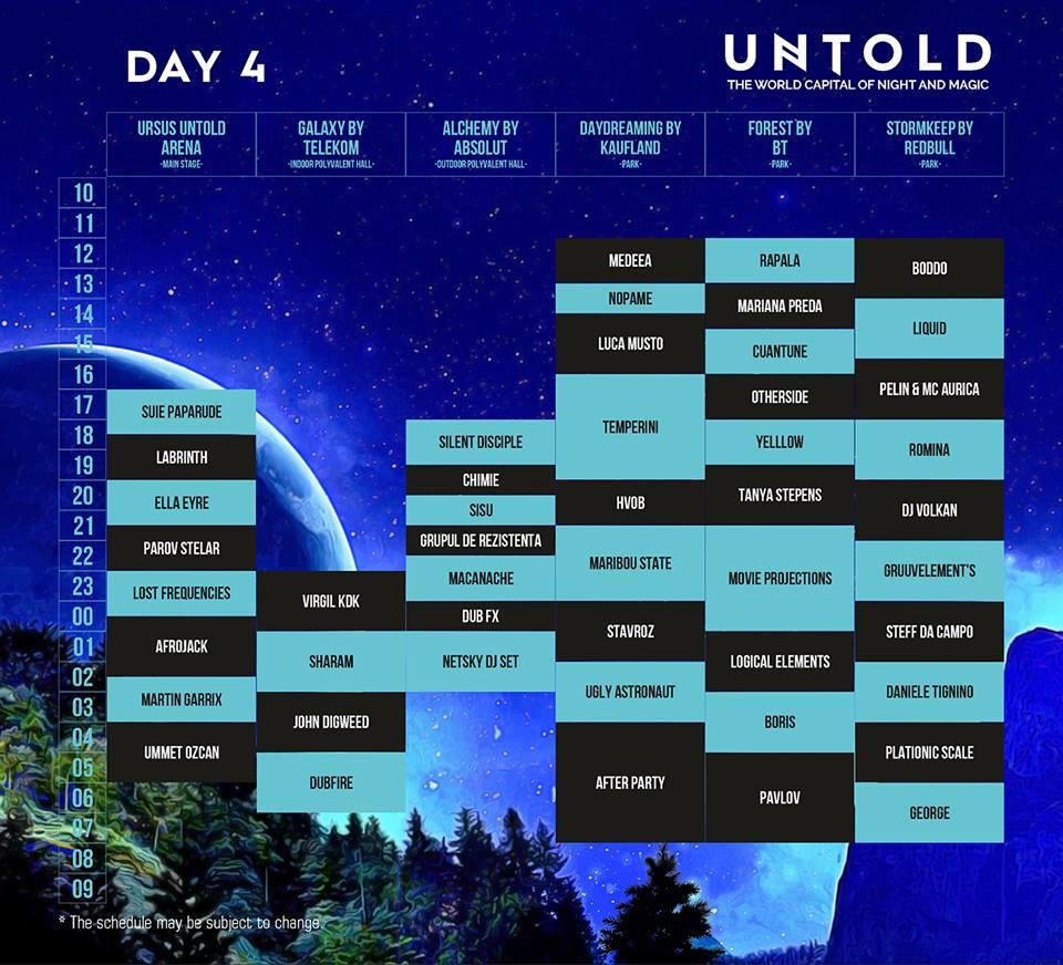 Program UNTOLD 2016 - ziua 4