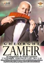 Concert Gheorghe Zamfir la Hard Rock Cafe din Bucureşti