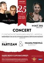 Concert Partizan şi Iuliana Puşchilă & Band la Hard Rock Cafe din Bucureşti