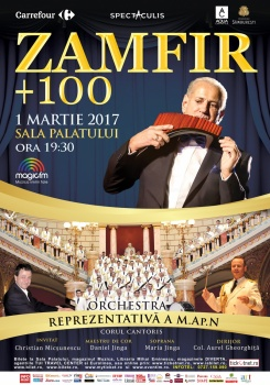 Concert Gheorghe Zamfir – Zamfir +100 la Sala Palatului din Bucureşti