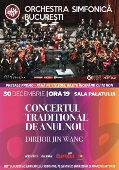 Orchestra Simfonică Bucureşti – Concertul Tradiţional de Anul Nou la Sala Palatului din Bucureşti