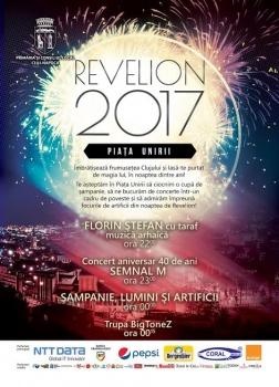 Revelion 2017 în Piaţa Unirii din Cluj-Napoca