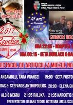 Revelion 2017 în Piața Unirii din Focşani