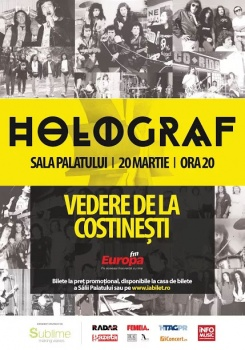 """Concert Holograf – """"Vedere de la Costineşti"""" la Sala Palatului din Bucureşti"""