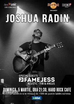 Concert Joshua Radin la Hard Rock Cafe din Bucureşti
